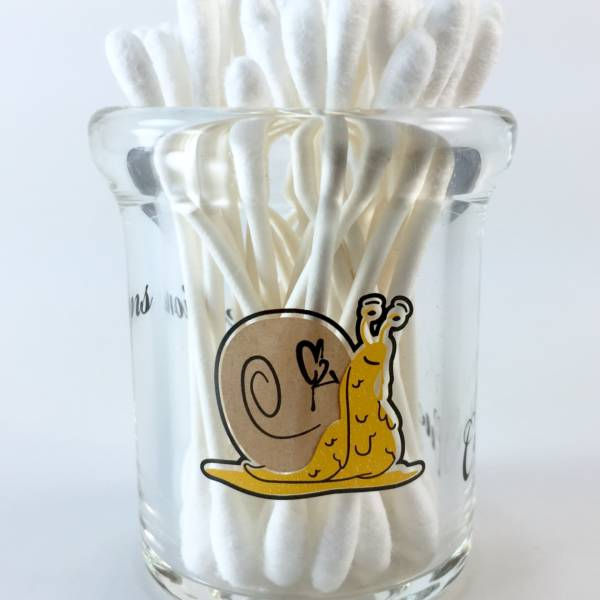 Quartz Nails Cleaning Q-tip Jar