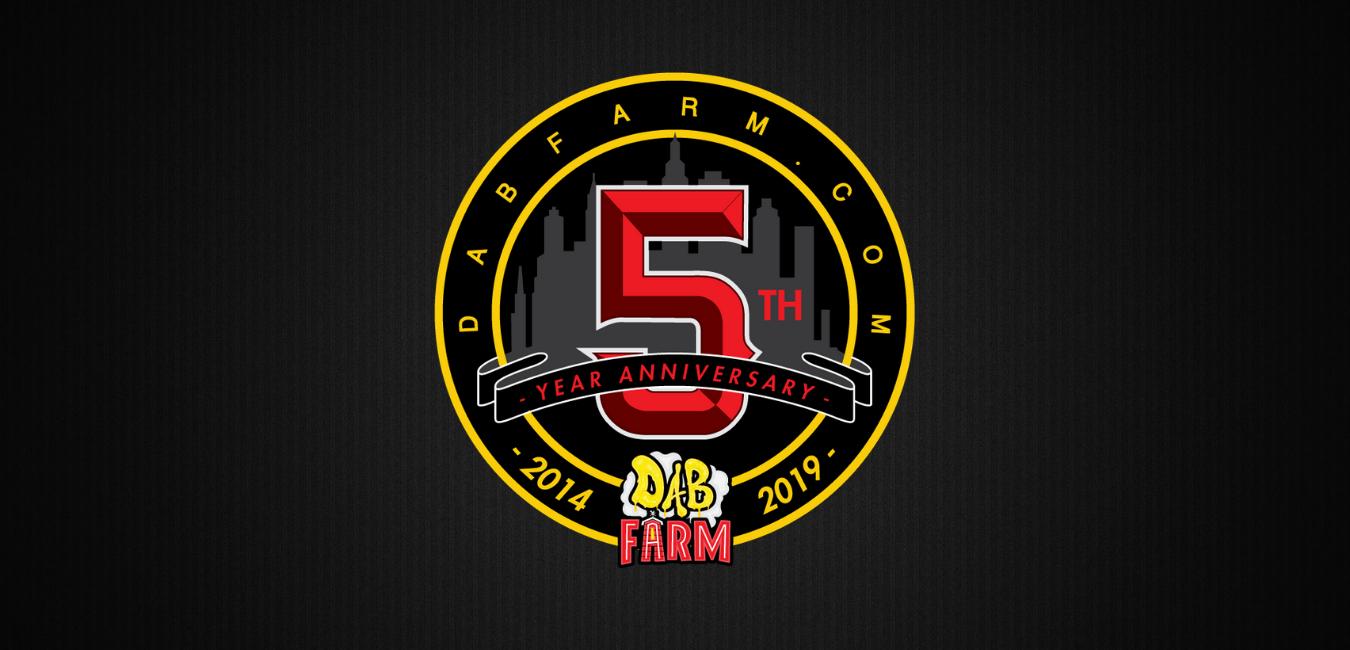 DabFarm 5 Year Anniversary Logo (Slider)