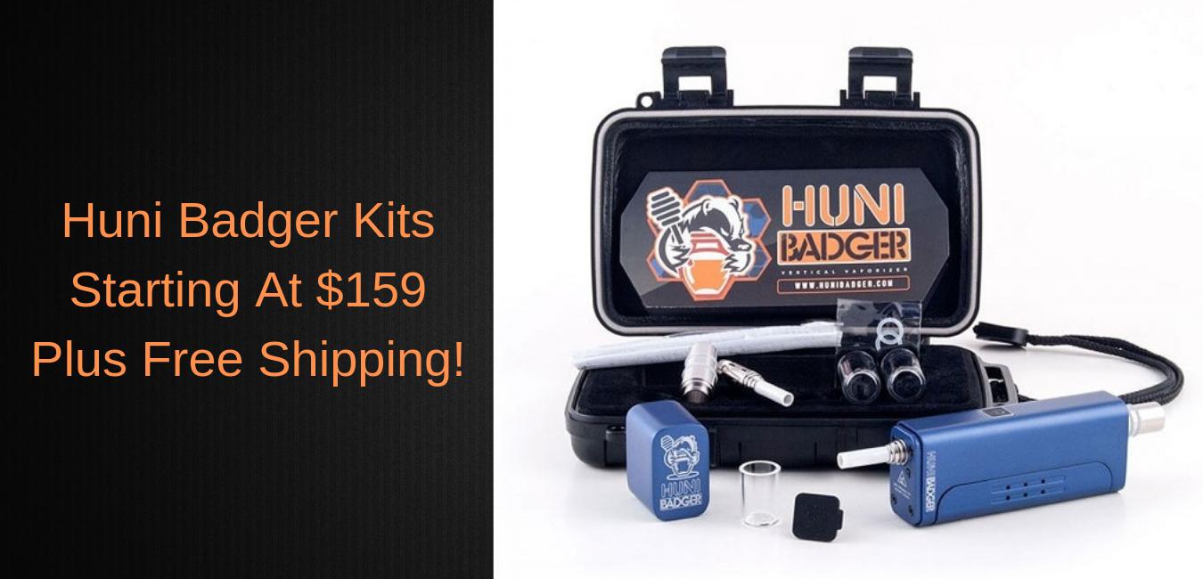 Huni Badger Portabler Vaporizer Enail Kit