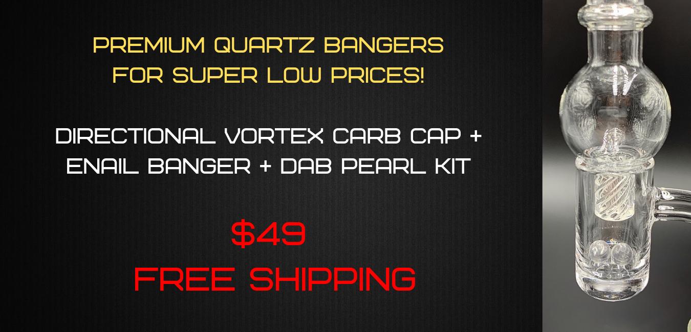 Enail XL -20MM Vortex Carb Cap + Enail Banger + Dab Pearls