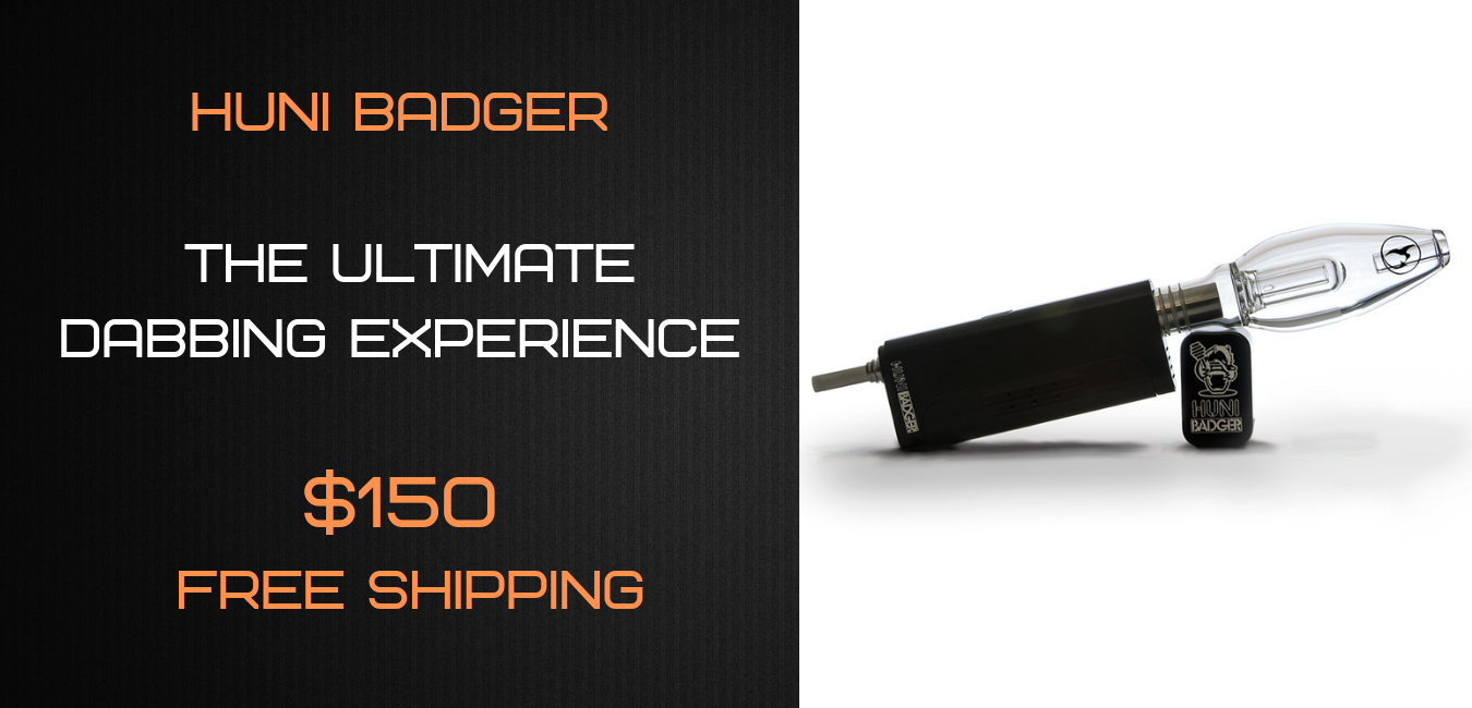Huni Badger Portable Dabbing Enail Kit - BLACK