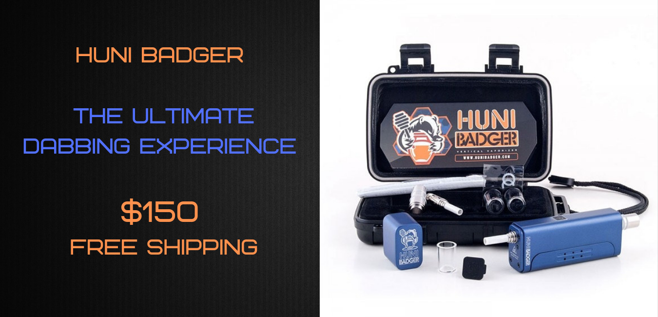 Huni Badger Portable Vaporizer Kit - Steel Blue