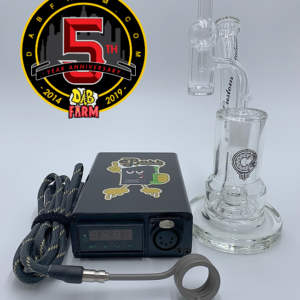 eBoss Mini Enail Kit + C2 Custom Creations Glass SP1 Baby Cake Dabbing Rig