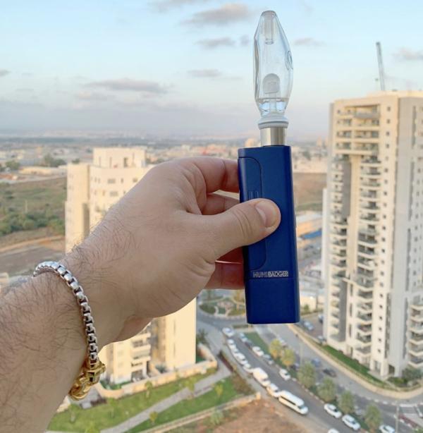 Huni Badger Portable Enail + Nectar Collector Huniguide Glass Bubbler Kit (Blue)