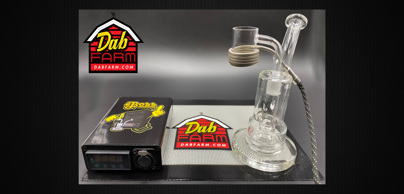 C2 GLASS SP1 MINI RIG + V3 EBOSS XXL 28MM VORTEX QUARTZ ENAIL COMBO KIT