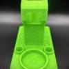 Huni Badger Dabbing Rig E-Nail Stand | UV Sensitive Green (Side).jpg