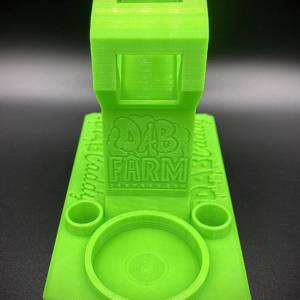Huni Badger Dabbing Rig E-Nail Stand | UV Sensitive Green (Side).jpg