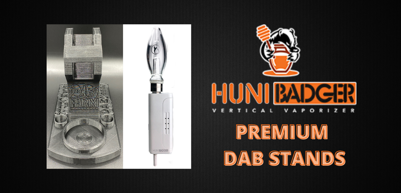 Huni Badger Portable Enail + Nectar Collector Honeybird Bubbler _ Dabbing Rig Stand