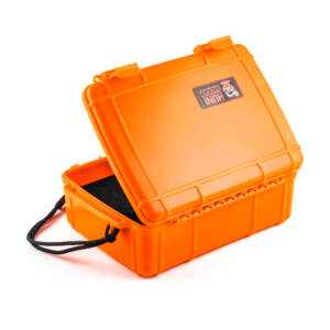 XL Huni Badger Case | Big Badger Case - Orange (open)
