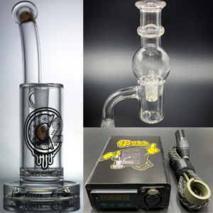 eBoss Mini Vortex E-Nail Kit + C2 Glass BRB50 Single Ratchet Dab Rig | Combo Enail Kit