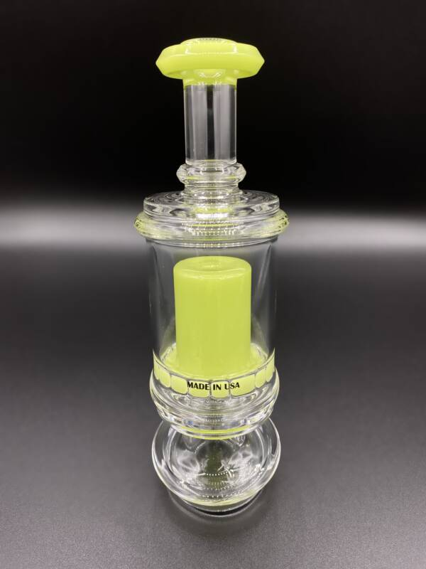 Puffco Peak Pro Glass Attachment   C2 Custom Creations Glass   Limited Edition CFL Key Lime Pie   Straight Top